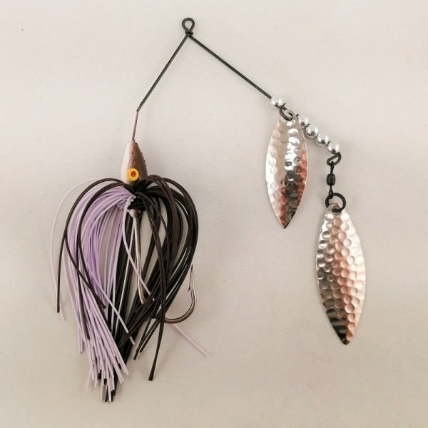 Brown and whitespinnerbait with double willow blades