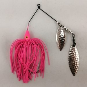 PInk spinnerbait with double willow blades