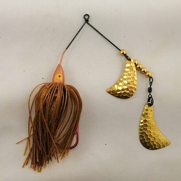 Copper Spinnerbait with brass hatchet blades