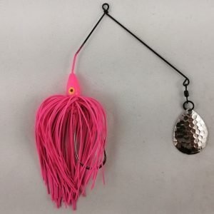 Pink spinnerbait with a single Colorado blade