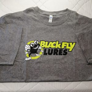 Blackfly Lures grey logo t-shirt