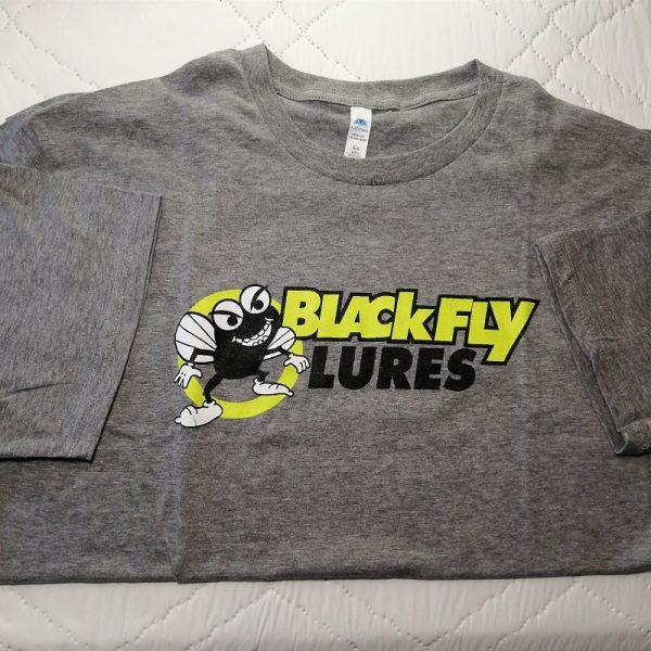 Blackfly Lures grey logo t-shirt